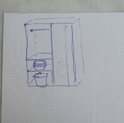 ручной эскиз шкафа
